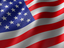 Us flag. 3d rendered illustration of a us flag Stock Photos