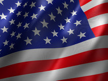 Us flag. 3d rendered illustration of a us flag Royalty Free Stock Photo