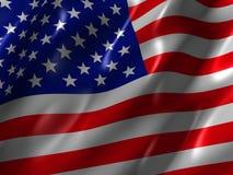 Us flag. 3d rendered illustration of a us flag Stock Photo