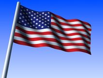 Us flag. 3d rendered illustration of an us flag Stock Photos