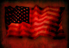 US Flag. On red grunge Royalty Free Stock Photography