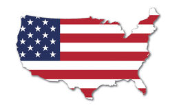 US Flag. US Map With Stars And Stripes - National Symbol Of The USA Royalty Free Illustration