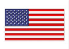 US flag. US gelly flag with dollar-stars Royalty Free Stock Image