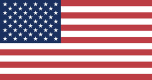 US Flag. The national flag of US Royalty Free Stock Images