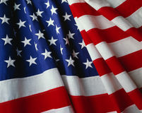 US Flag. Close up view of the American Flag Royalty Free Stock Photography