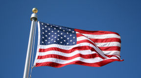 US Flag. The flag of the United States of America Stock Images