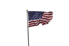 US flag. Against white background Stock Image