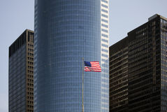 Free US Flag And Skyscrapers Royalty Free Stock Photos - 27081768
