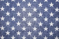 US Flag Back Lit Star Field Stock Photography