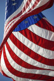 US Flag Billowing in the Breeze Royalty Free Stock Photo