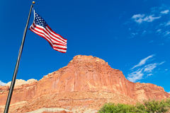 US flag in Capital Reef National Park, USA Stock Photography