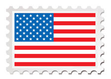 Us flag card Stock Image