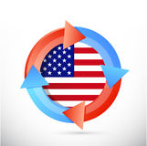 Us flag cycle illustration design Stock Images