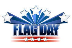 US flag day stars illustration design Stock Photos