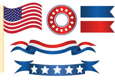 Us flag decor royalty free illustration