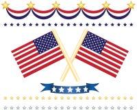 Us Flag Decor Set Stock Photo