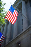 US Flag on Department of Justice Royalty Free Stock Photo