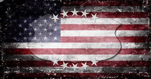 Memorial Day - flag and lettering Stock Images