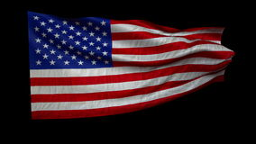 US flag is developing rapidly. In the wind + alfa stock video