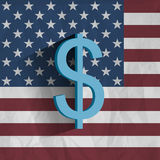 US flag with dollar symbol Stock Image