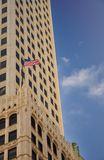 US flag flying high Royalty Free Stock Photos
