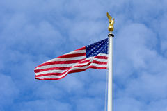 US Flag with Golden Eagle Royalty Free Stock Photography
