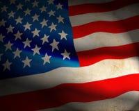 US Flag. On grunge background Royalty Free Stock Photos