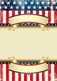 US flag grunge frame Stock Images