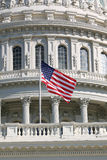 US Flag at Half-Mast Stock Photography