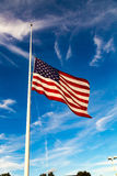 US Flag at Half-Staff Stock Photos