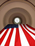 US Flag Hanging from Dome Royalty Free Stock Photo