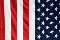 US flag hanging vertically Royalty Free Stock Image