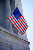 US Flag on Justice Department Royalty Free Stock Photo