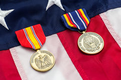US Flag Military Medals stock images