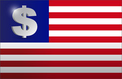 US flag monetary concept illustration Royalty Free Stock Images