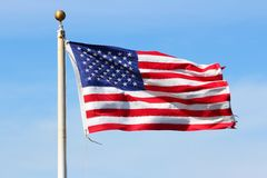 US flag. National symbol of the United States Royalty Free Stock Images
