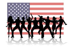 Us Flag Party People Royalty Free Stock Image