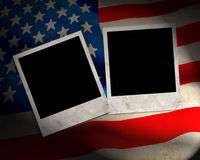 US Flag. With photo frames Royalty Free Stock Image