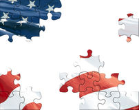 US flag puzzle Stock Images