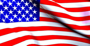 USA Flag - American Flag Waving Royalty Free Stock Photography