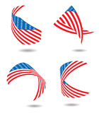 Us flag ribbon Royalty Free Stock Photo