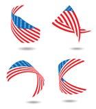 Us flag ribbon Royalty Free Stock Photo