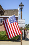 US Flag at San Diego Old Town - SAN DIEGO - CALIFORNIA - APRIL 21, 2017 Royalty Free Stock Photography