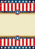 US flag scratched Royalty Free Stock Images