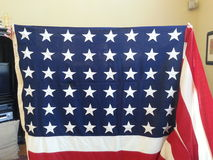 US flag with 48 stars Royalty Free Stock Photography