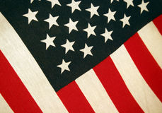 US flag Stars and Stripes. Stars and Stripes - flag of the USA, in higher resolution you can see the textile structure Stock Photography