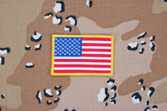 US flag on uniform Royalty Free Stock Images