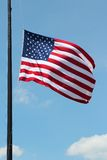 US flag. Flag of the United States, famous star spangled banner Stock Photo