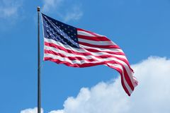 US flag. Flag of the United States, star spangled banner Stock Images