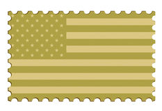 US Flag Vector Stamp Stock Images